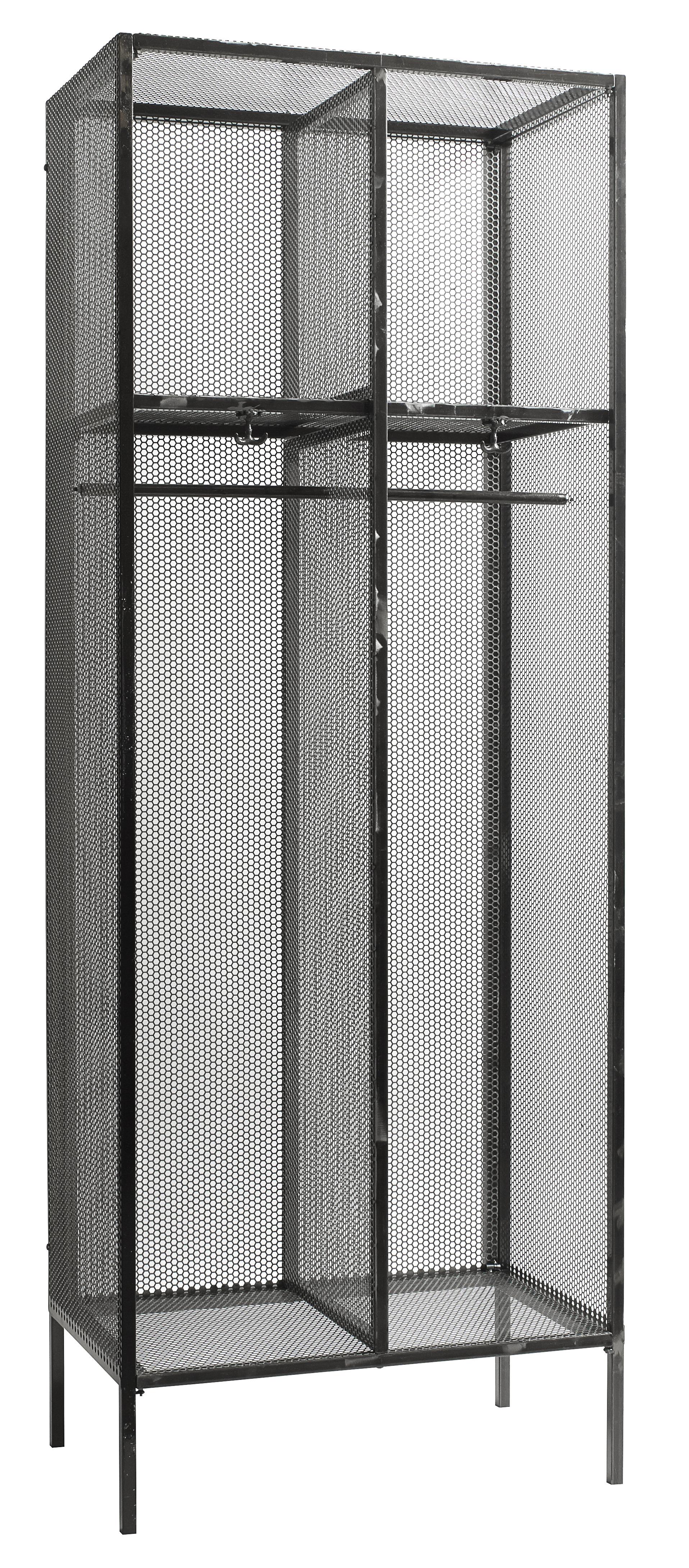Comprar armario negro hierro nordico 200 x 200 nordal - Armarios de hierro ...