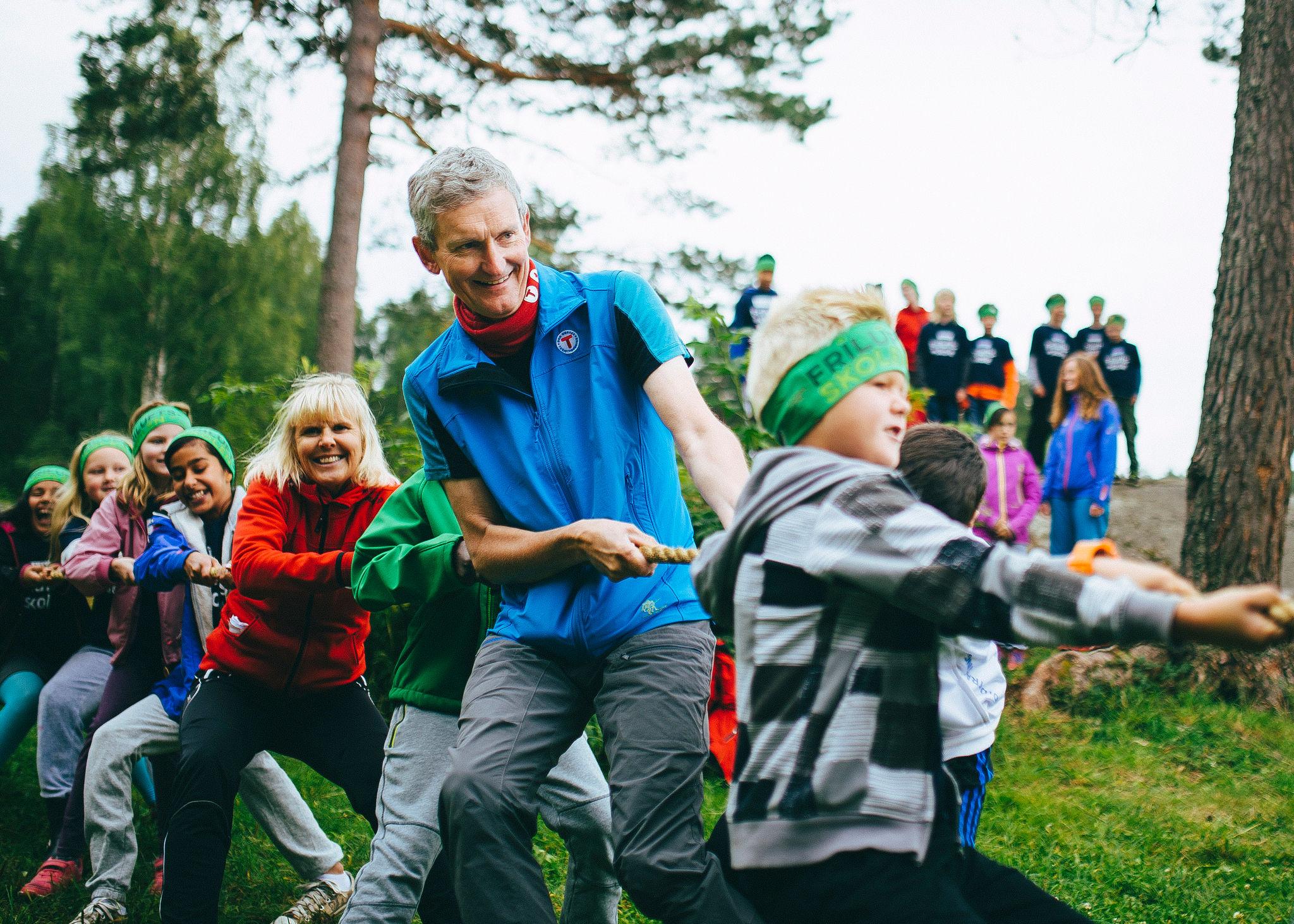 Nils Øveraas, generalsekretær i DNT, gir alt. Foto: Marius Dalseg Sætre/DNT