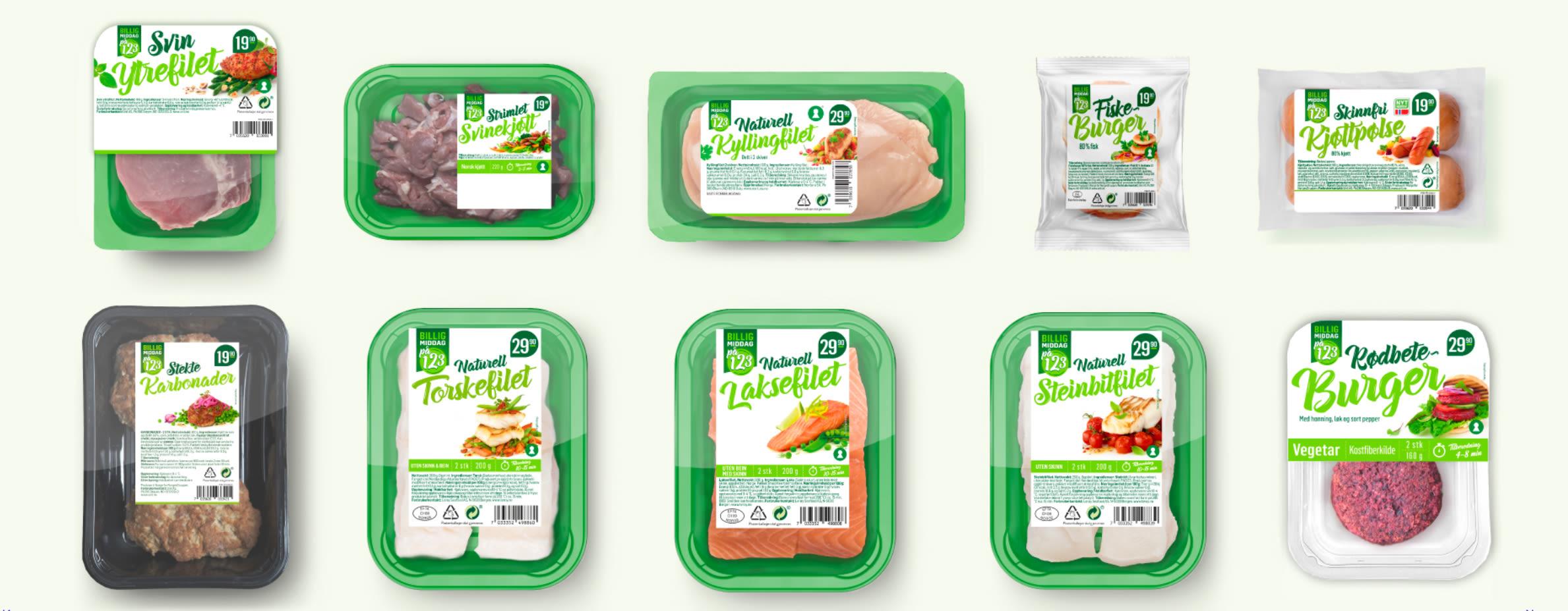 Lager du middag til kun deg selv? I Middag for én-serien finnes det for eksempel flere varianter av magert kjøtt, som svinefilet, strimlet svin og kylling.