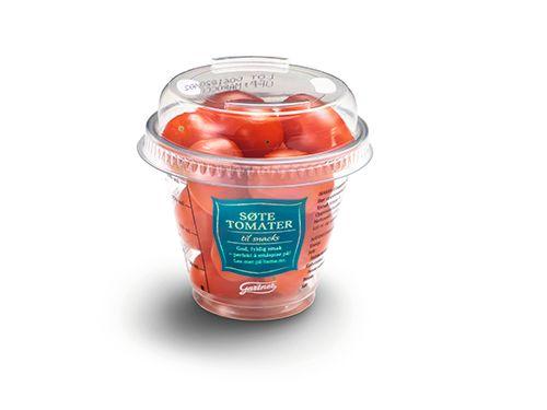 Tomater i beger.