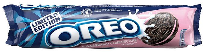 Oreo Strawberry Cheescake: Lyst til å prøve en ny variant av Oreo-kjeksene? Nå kommer kjeksfavoritten også med smak av jordbærostekake.