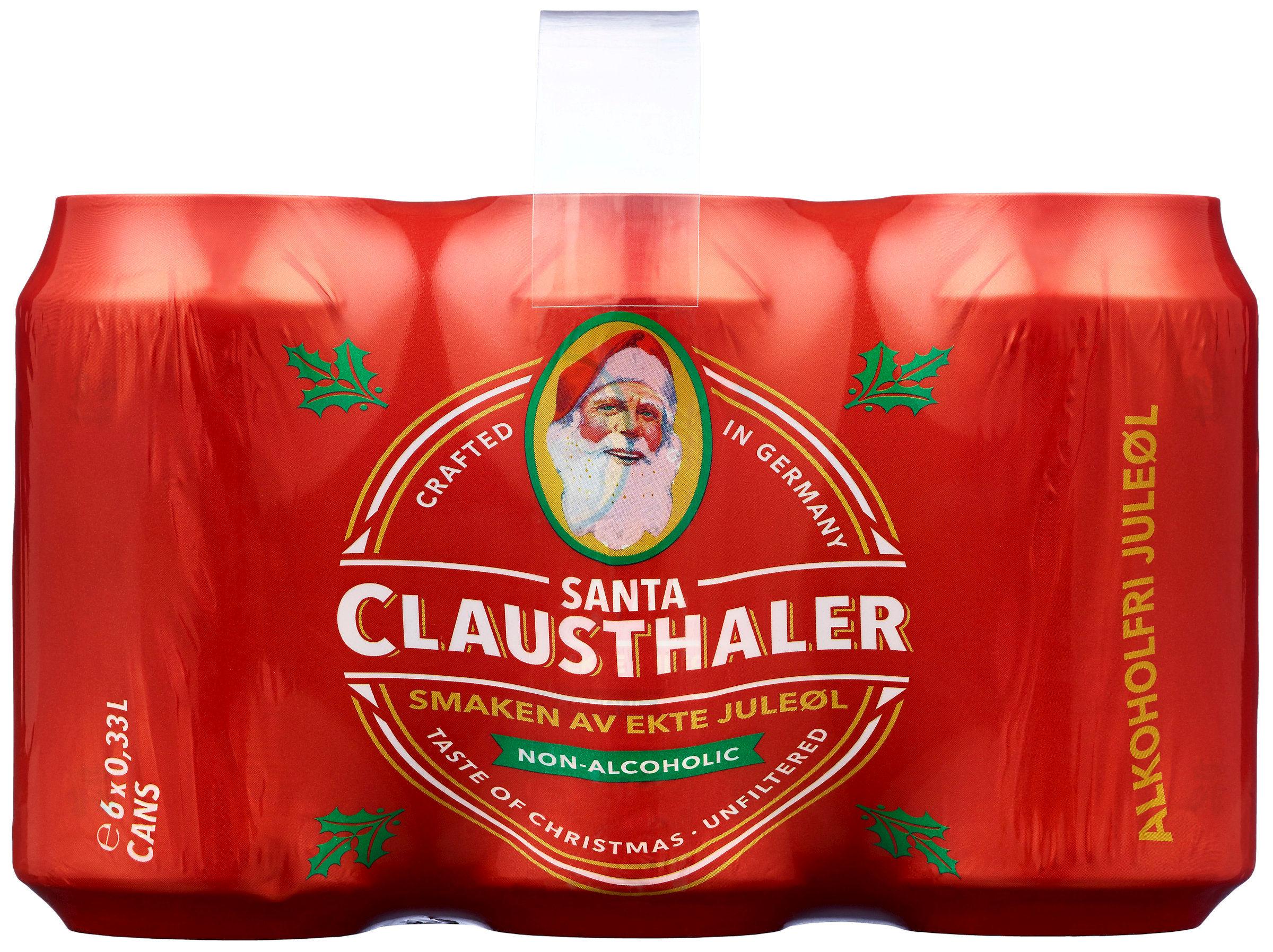 Santa juleøl fra Clausthaler har fått ny design julen 2018