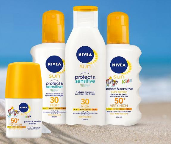 Nivea Sun Protect & Sensitive er en solkrem-serie som passer godt til både barn og voksne i påskesolen.