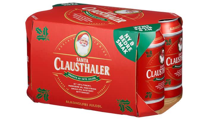 Juleølet Santa Clausthaler fra Hansa Borg bryggerier.