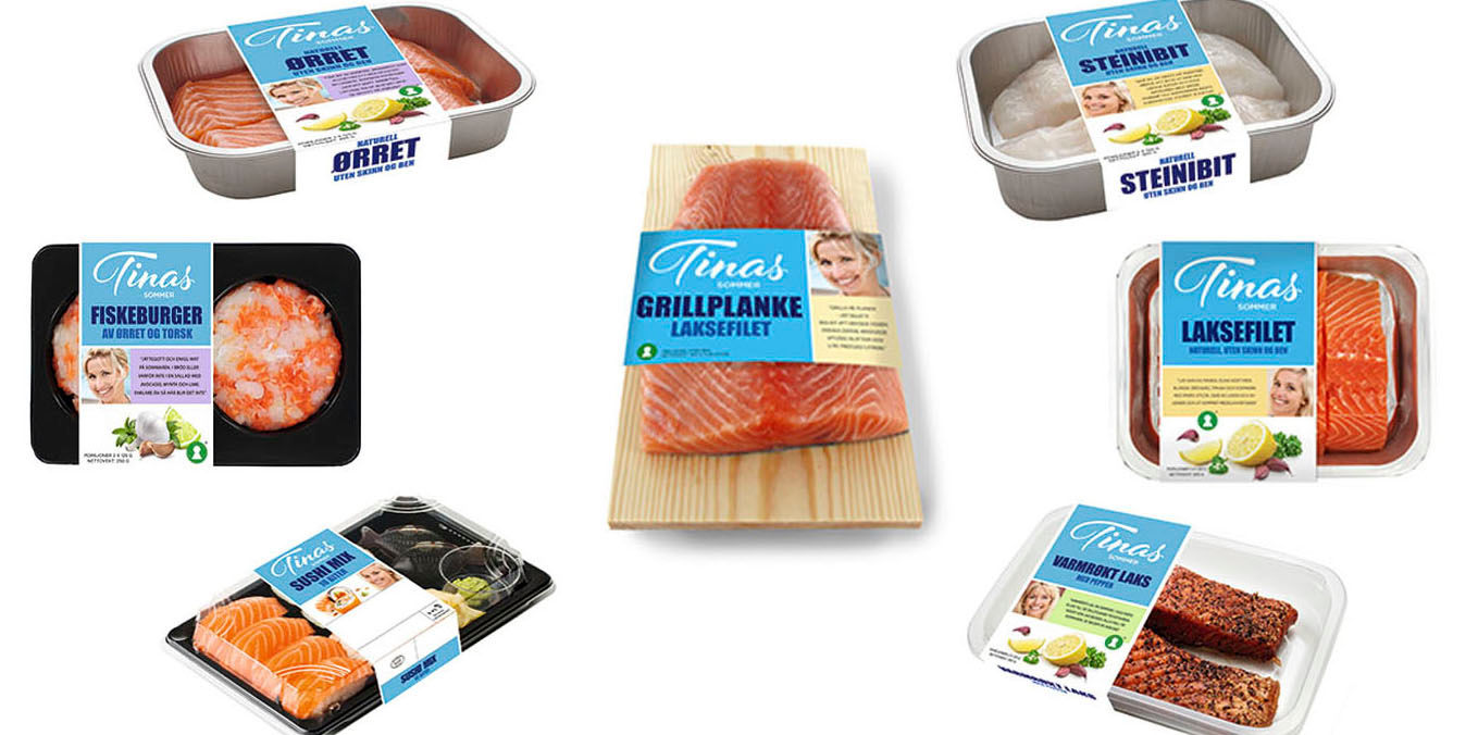 Dette er fiskeproduktene fra Tinas sommer som selges hos KIWI.