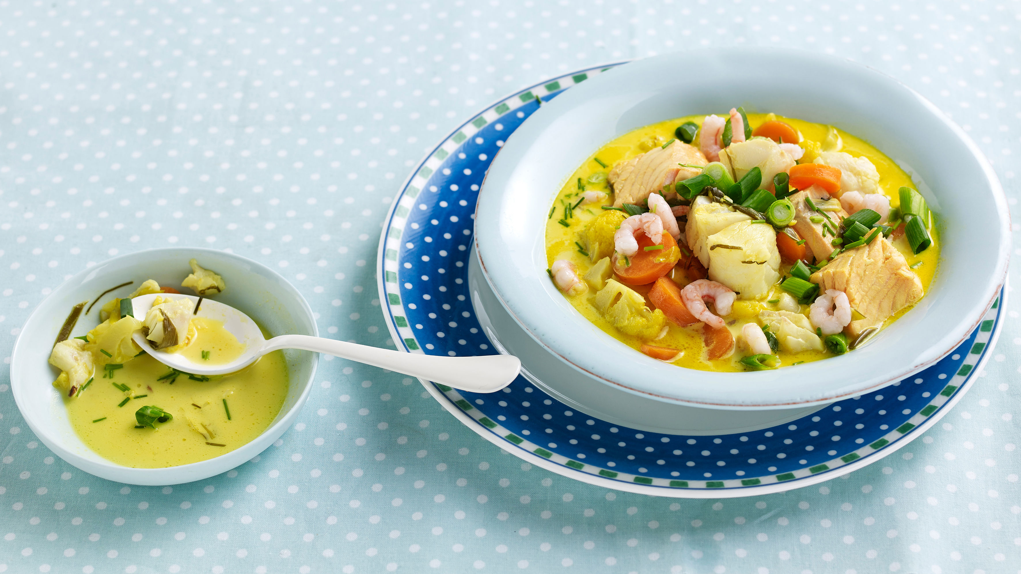 Kokken Tryms (12) sin fiskesuppe med torsk og laks