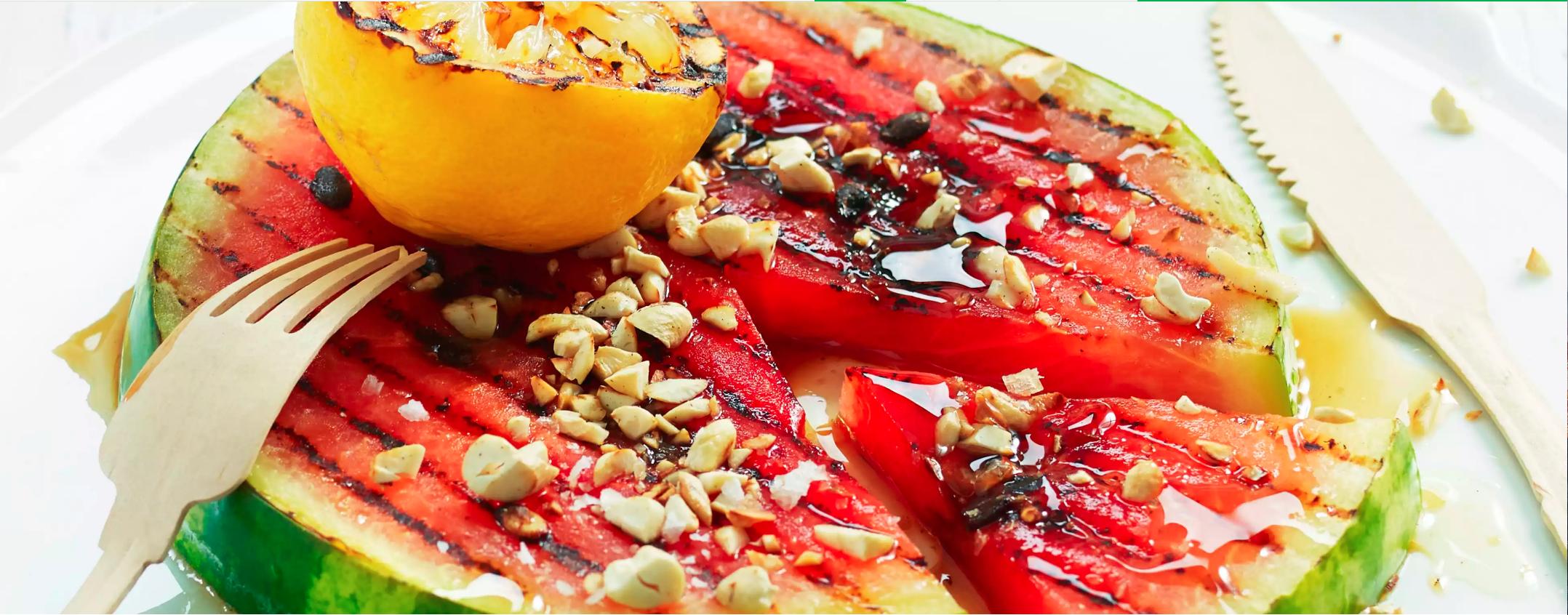 Grillet vannmelon er en dessert du må prøve.