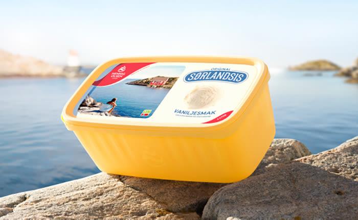Is-favoritten Sørlandsis kommer nå i nytt design, i tillegg til nye smaker og en laktosefri utgave.