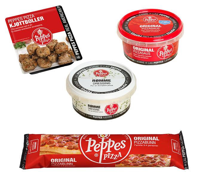 Peppes Pizza kjøttboller, original pizzasaus og rømmedressing finner du i alle KIWI-butikker. Peppes pizza ferdig pizzabunn finner du i de fleste KIWI-butikker.