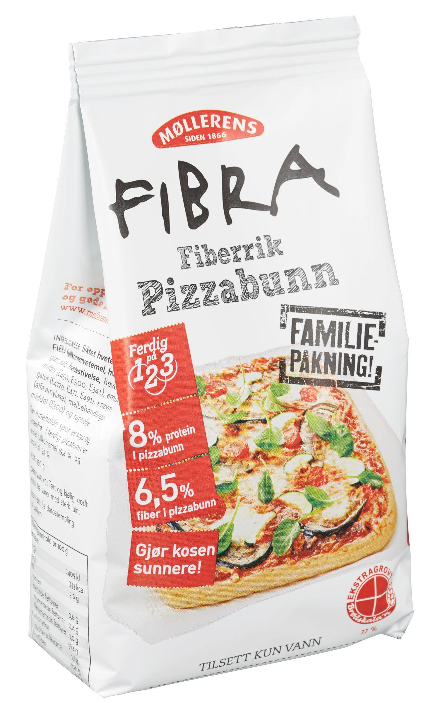 PIZZAMEL: Lag hjemmelaget pizza med Møllerens pizzamel, som nå er 40% billigere enn før.