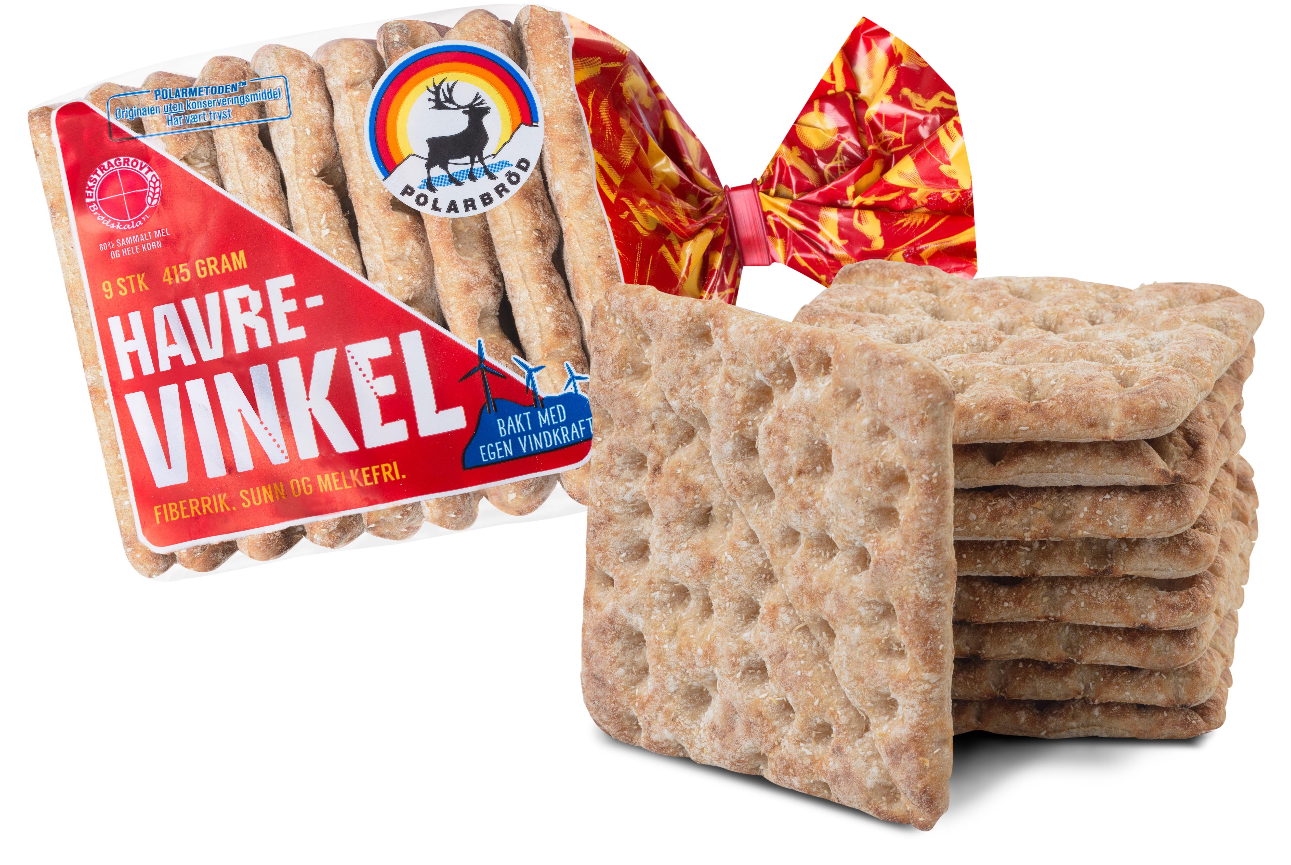 Havrevinkel fra Polarbrød passer perfekt i matpakken.