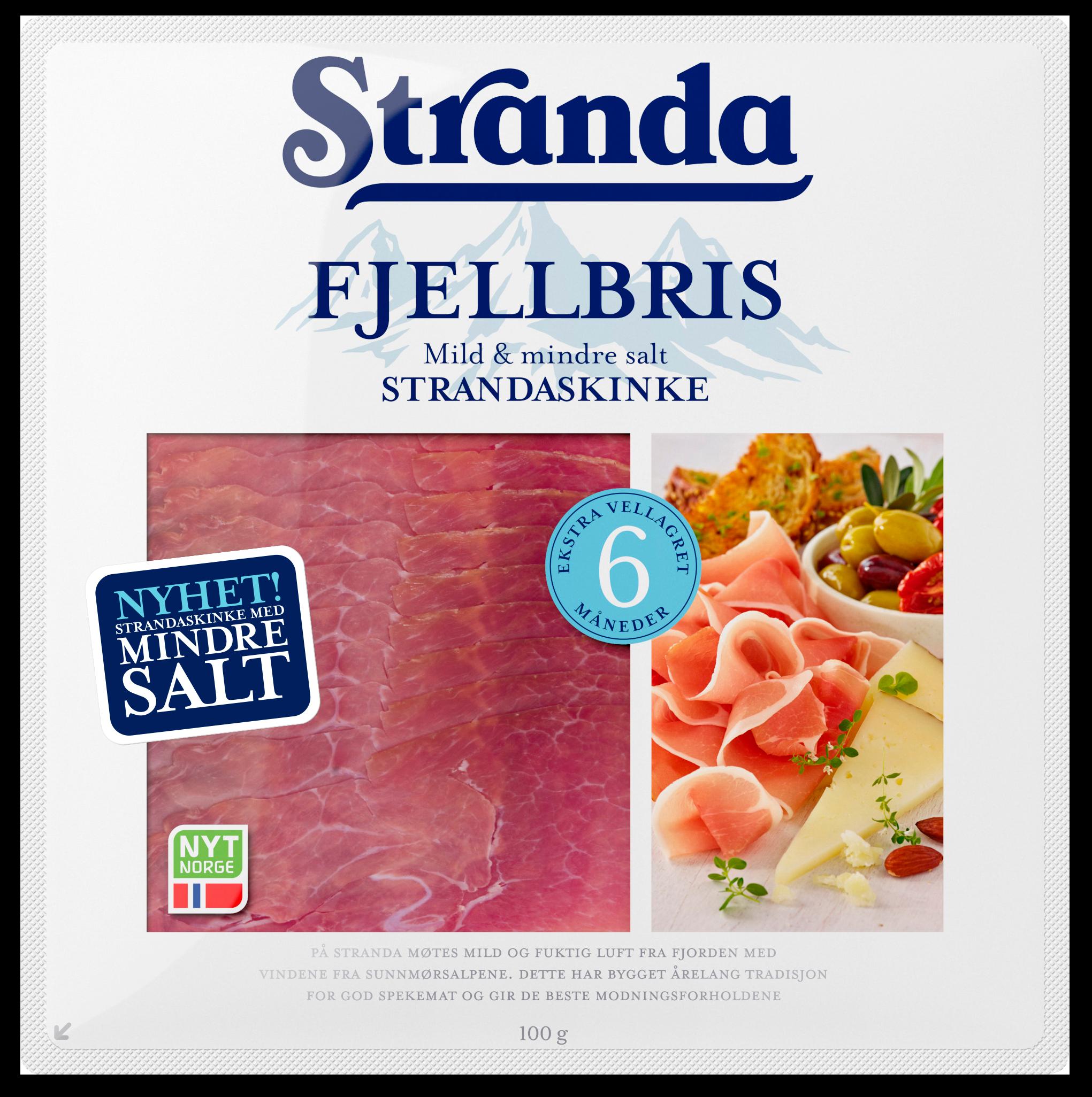 Stranda Fjellbris, ny spekeskinke med mindre salt.