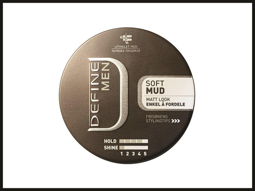 DEFINE MEN SOFT MUD 80ML: Define Men Soft Mud er en myk voks. Den er lett å fordele, og du kan enkelt forme håret slik du ønsker.