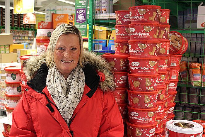 Merethe Lundberg handler fast på KIWI Auli fordi hun vet at hun får tak i det aller meste hun trenger i én butikk.