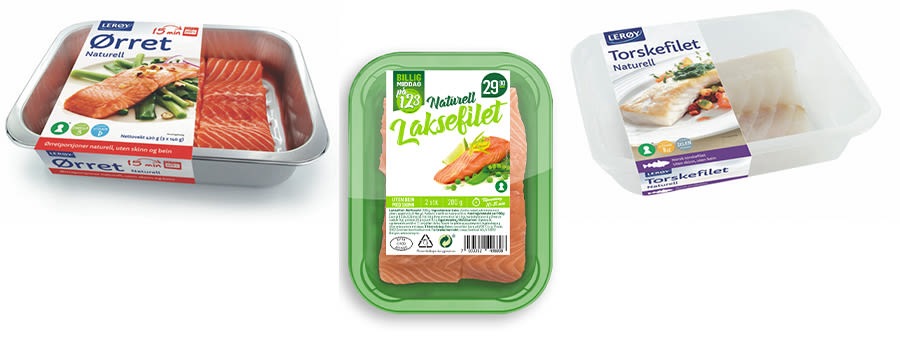 FISK PÅ GRILLEN: Det er både kjapt og enkelt å grille fisk. Filetene i aluminiumsskål kan grilles direkte i skåla.