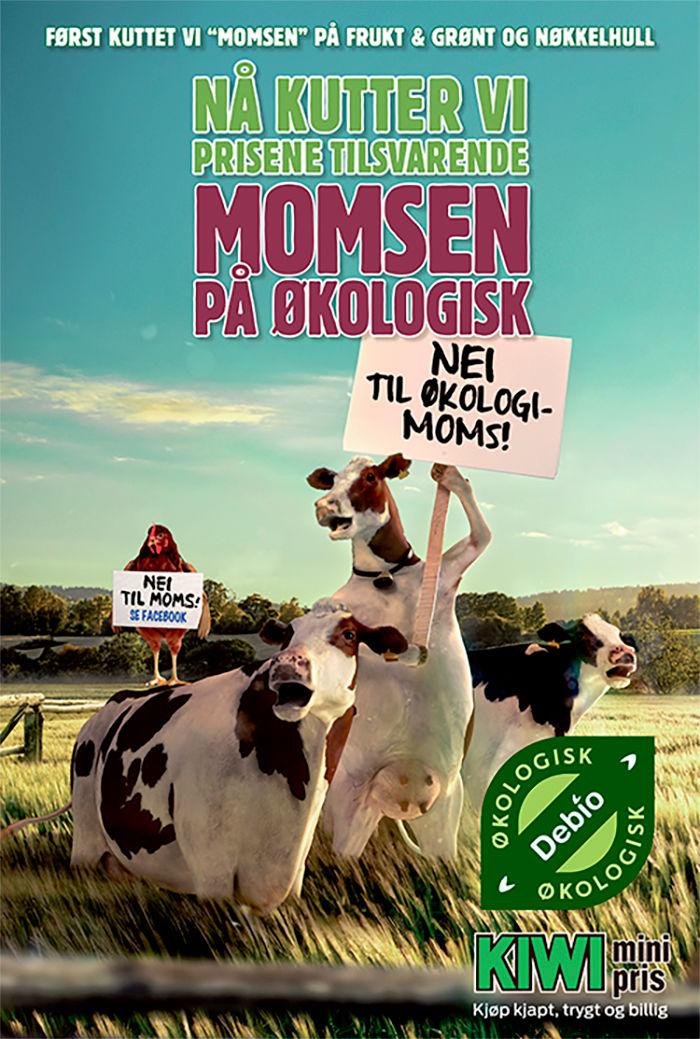 """""""Momskutt""""-aksjon runde tre: Nå kuttet KIWI prisene på alle økologiske varer!"""
