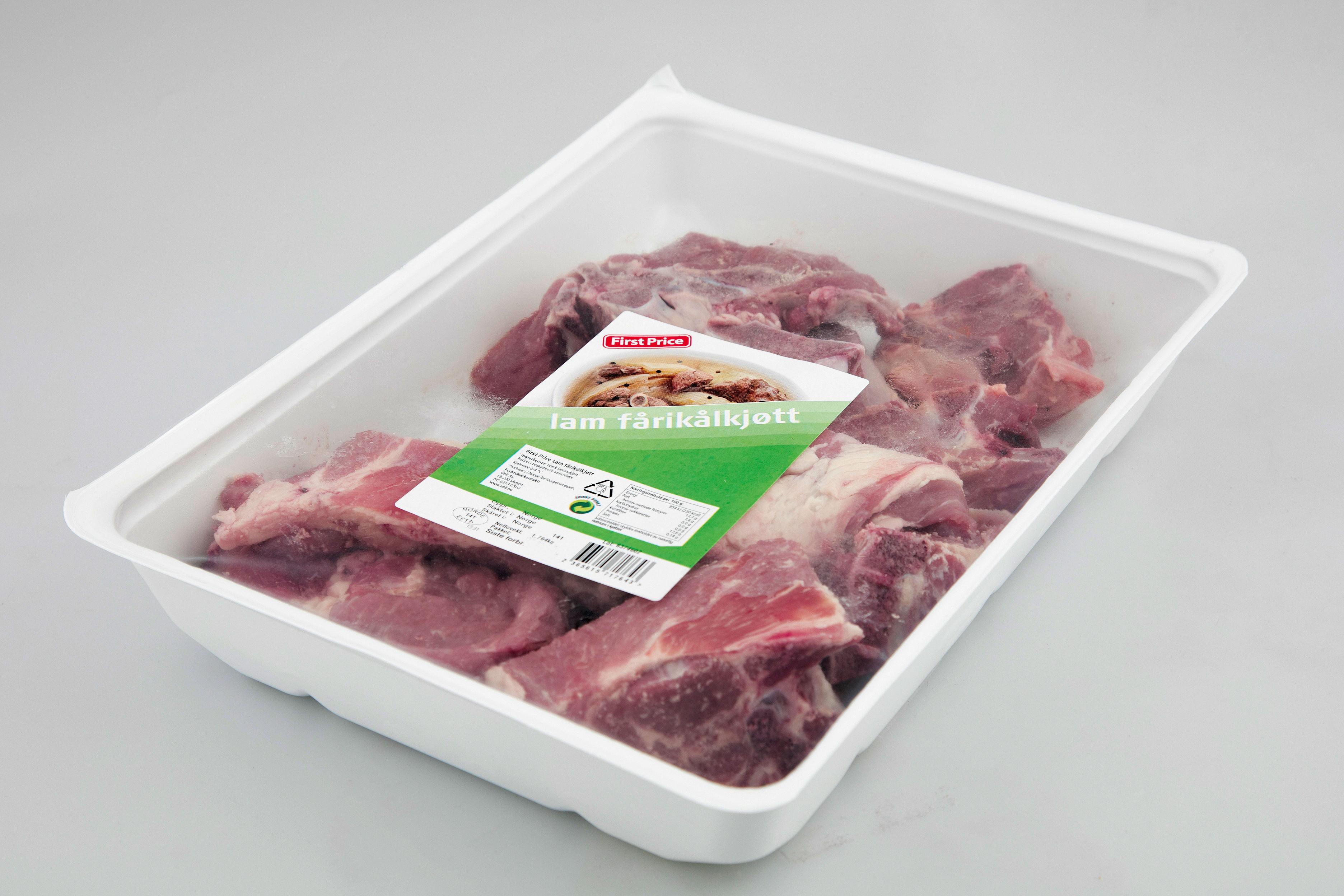 First Price fårikålkjøtt av lam, ca 1,8 kg. Tilgjengelig i hele landet.