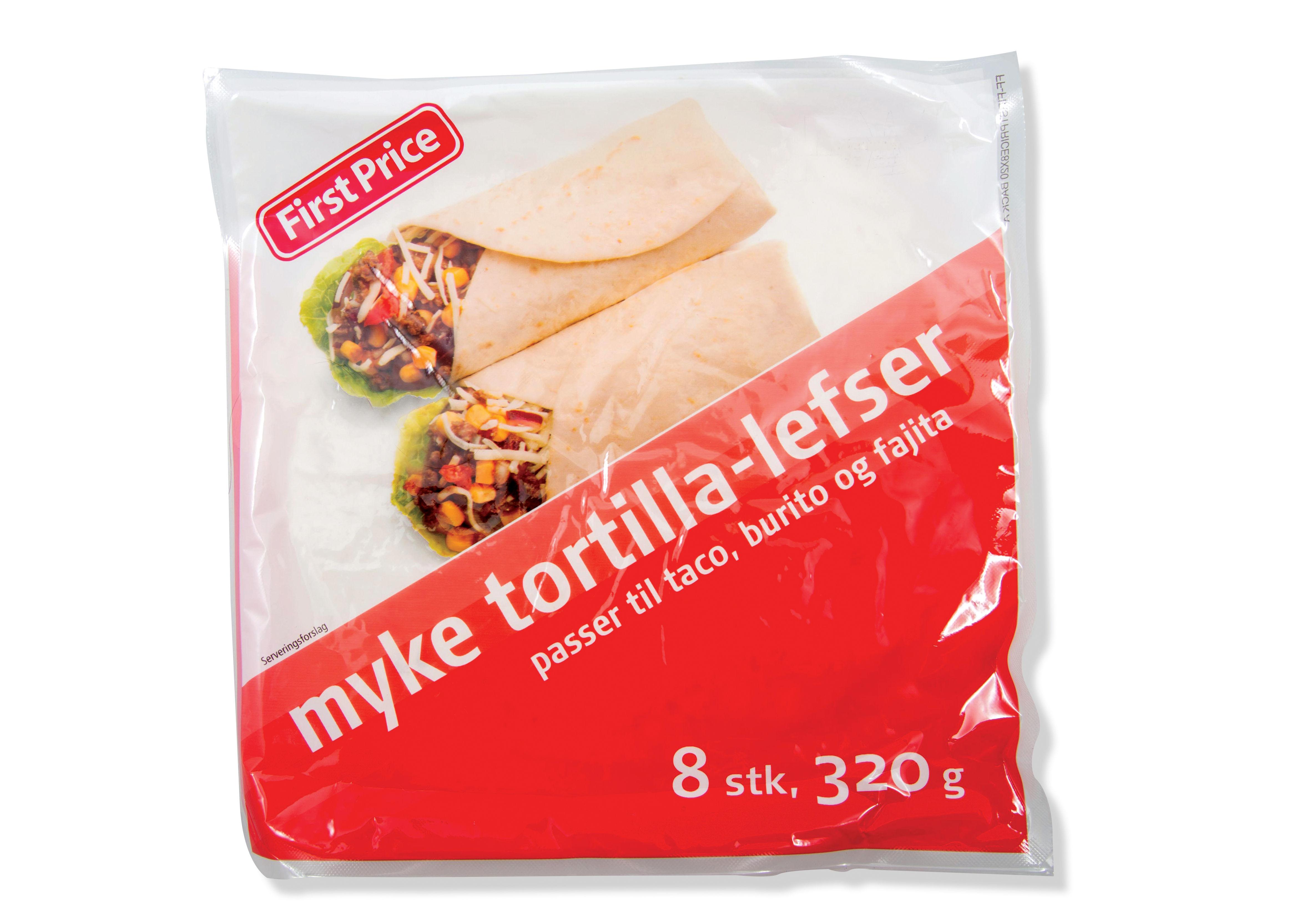 FirstPrice tortillalefser fikk masse skryt og topplassering i Dagbladets smakstest.