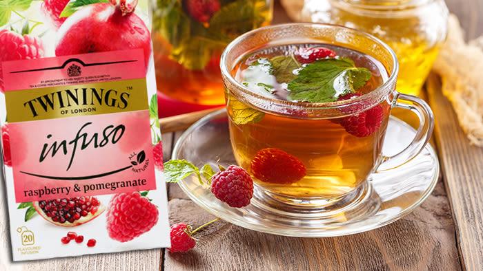Twinings Infuso er en urte-te som er naturlig koffeinfri og med en god fruktsmak.