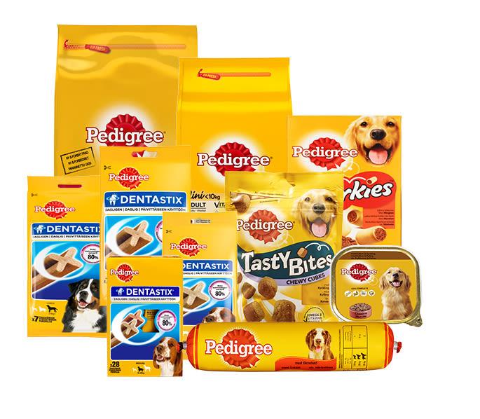 Disse produktene fra Pedigree selges i alle KIWI-butikker