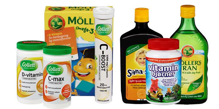 Kosttilskudd du får kjøpt i alle KIWI-butikker.
