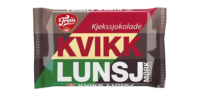 Kvikk Lunsj: Her er Freias gode nyhet for deg som er glad i en litt mer intens sjokoladesmak. Tursjokoladen Kvikk Lunsj blir nå også å finne med mørk sjokolade.