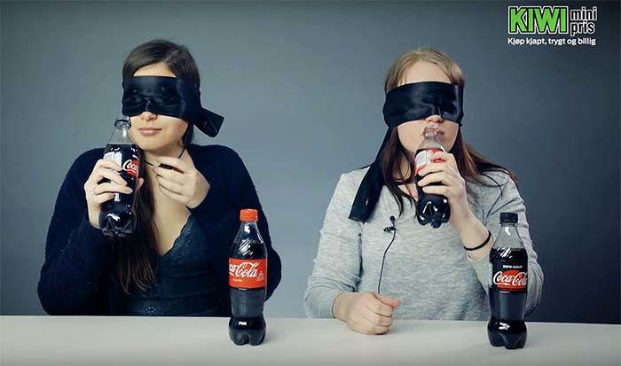 Klarer de å smake forskjell på Coca-Cola og nye Coca-Cola Zero sugar? Vi tok testen!