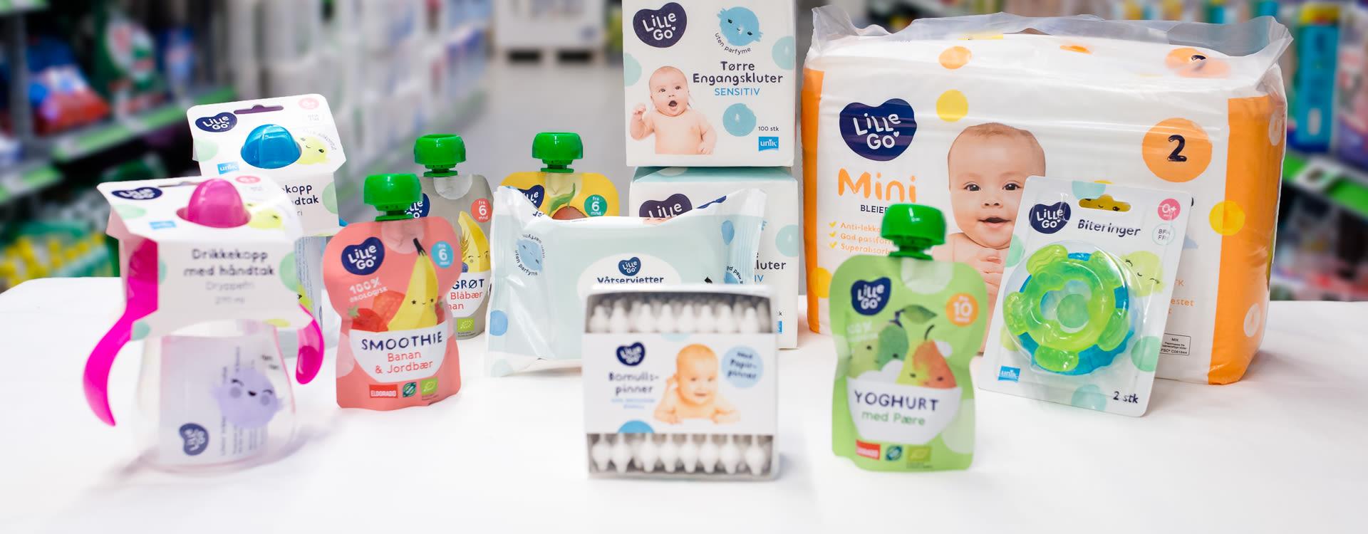 LilleGo' er vårt billigste alternativ til småbarnsfamiliene. Bleiene i denne serien er ikke med i KIWIs bleieavtale.