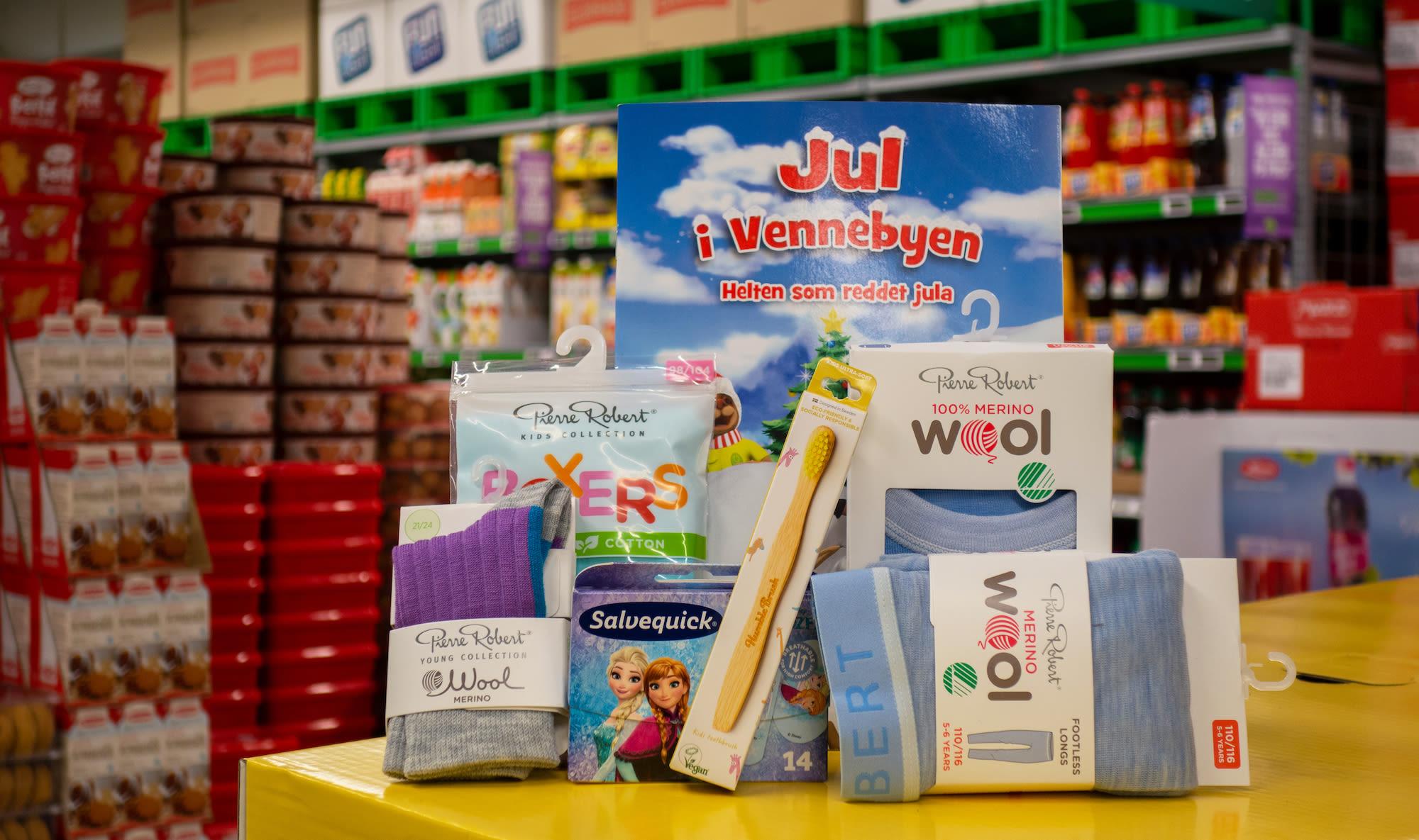 JULEGAVEN TIL BARN: Hos KIWI kan du kjøpe både praktisk ulltøy, underholdning og nyttige produkter tilpasset barn.