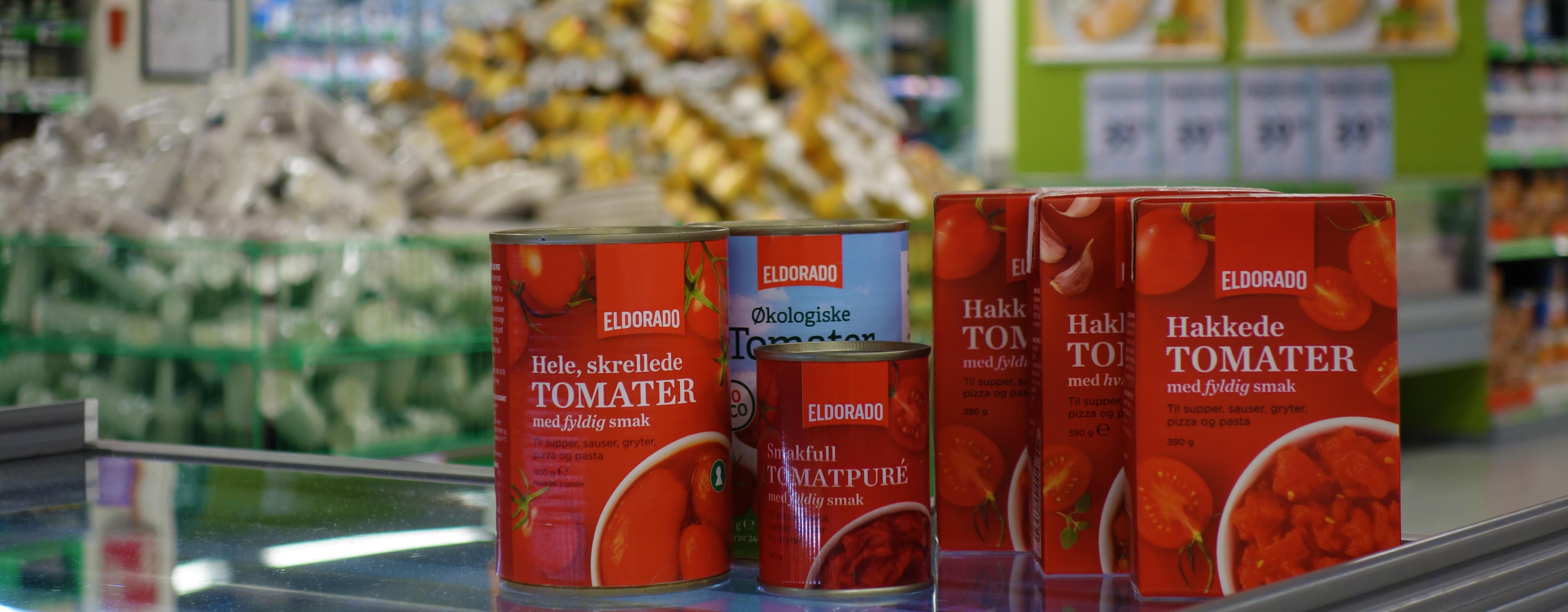 Hakkede tomater er allerede i papp, snart følger andre produkter fra Eldorado etter.