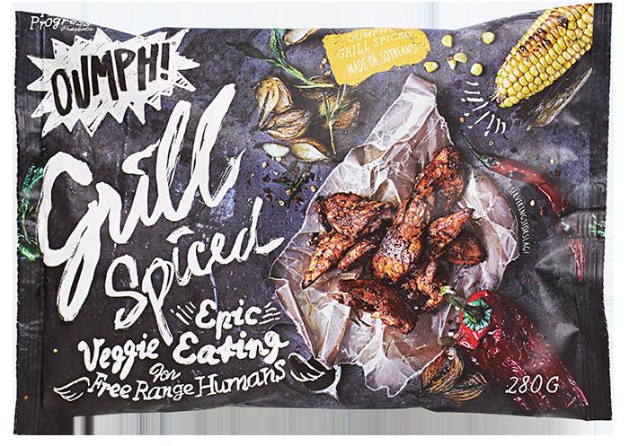 Oumph! Grill er en krydret versjon som er å få kjøpt i utvalgte KIWI-butikker.