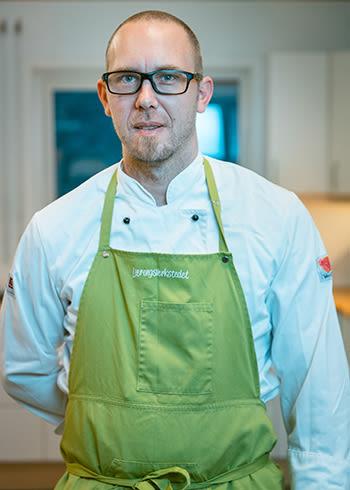Matansvarlig Svein Kristian Mørck i Læringsverkstedet Doremi Våler.