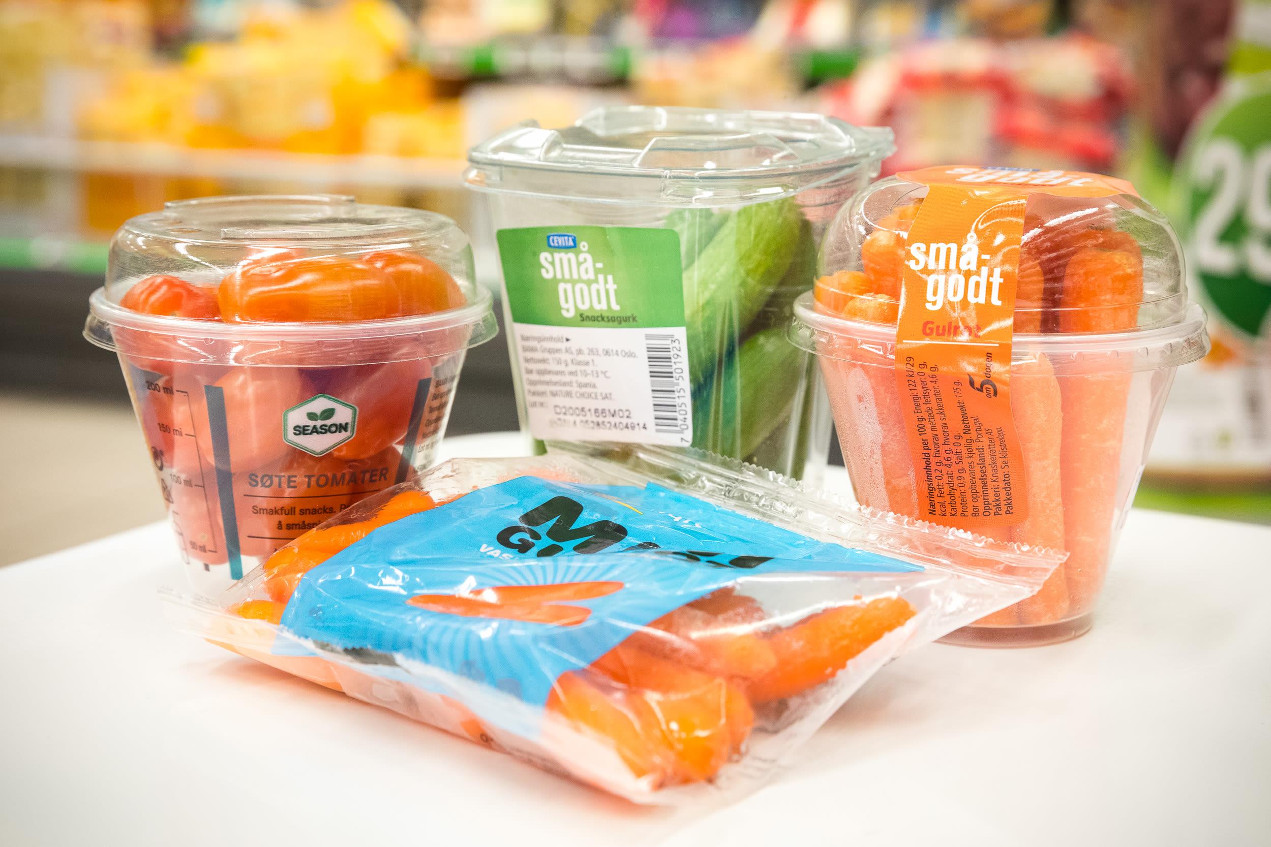 Frukt, grønt og bær i porsjonsbeger er svært populære hos KIWI.