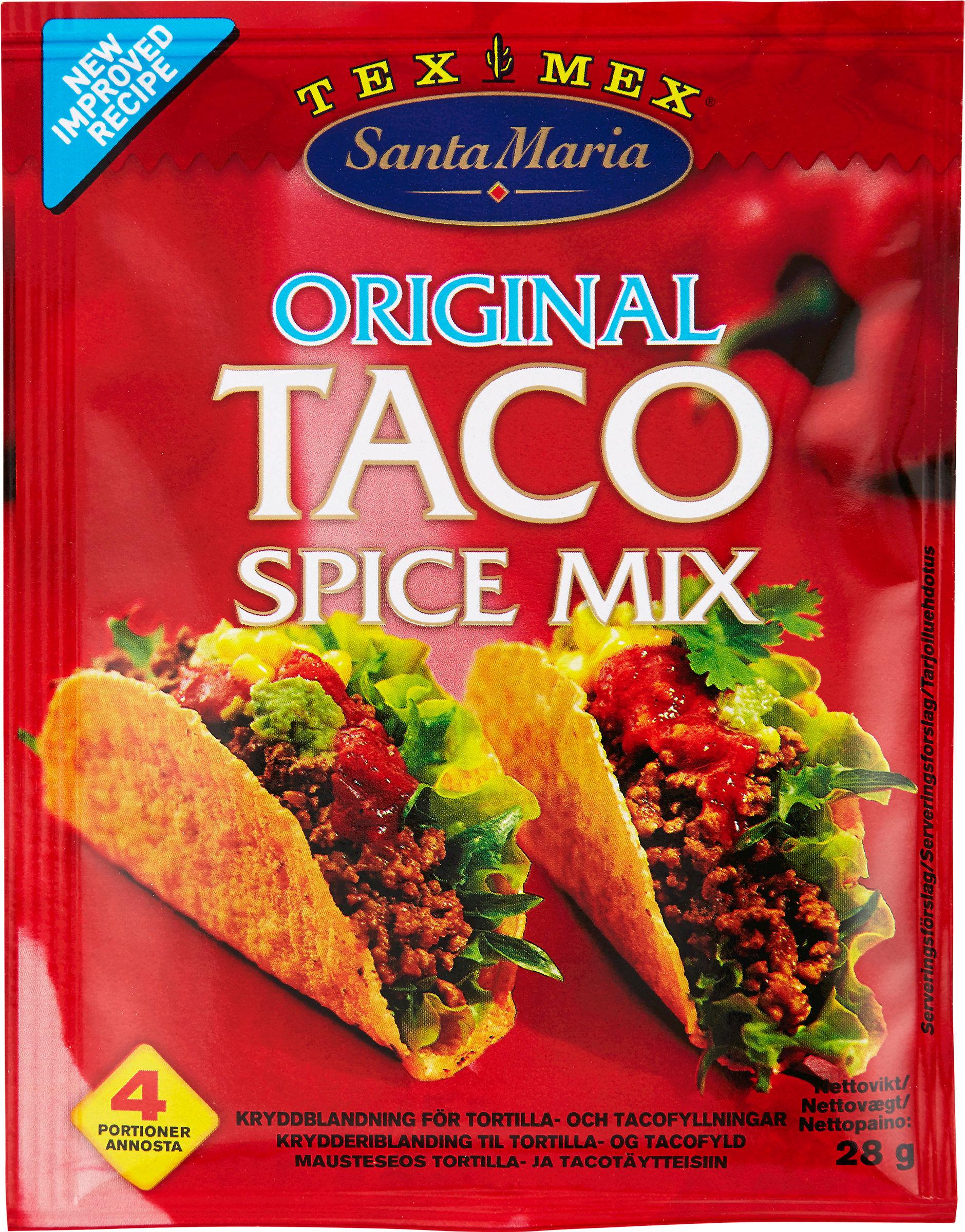 TACO: Kryddermix fra Santa Maria er nå 40% billigere!