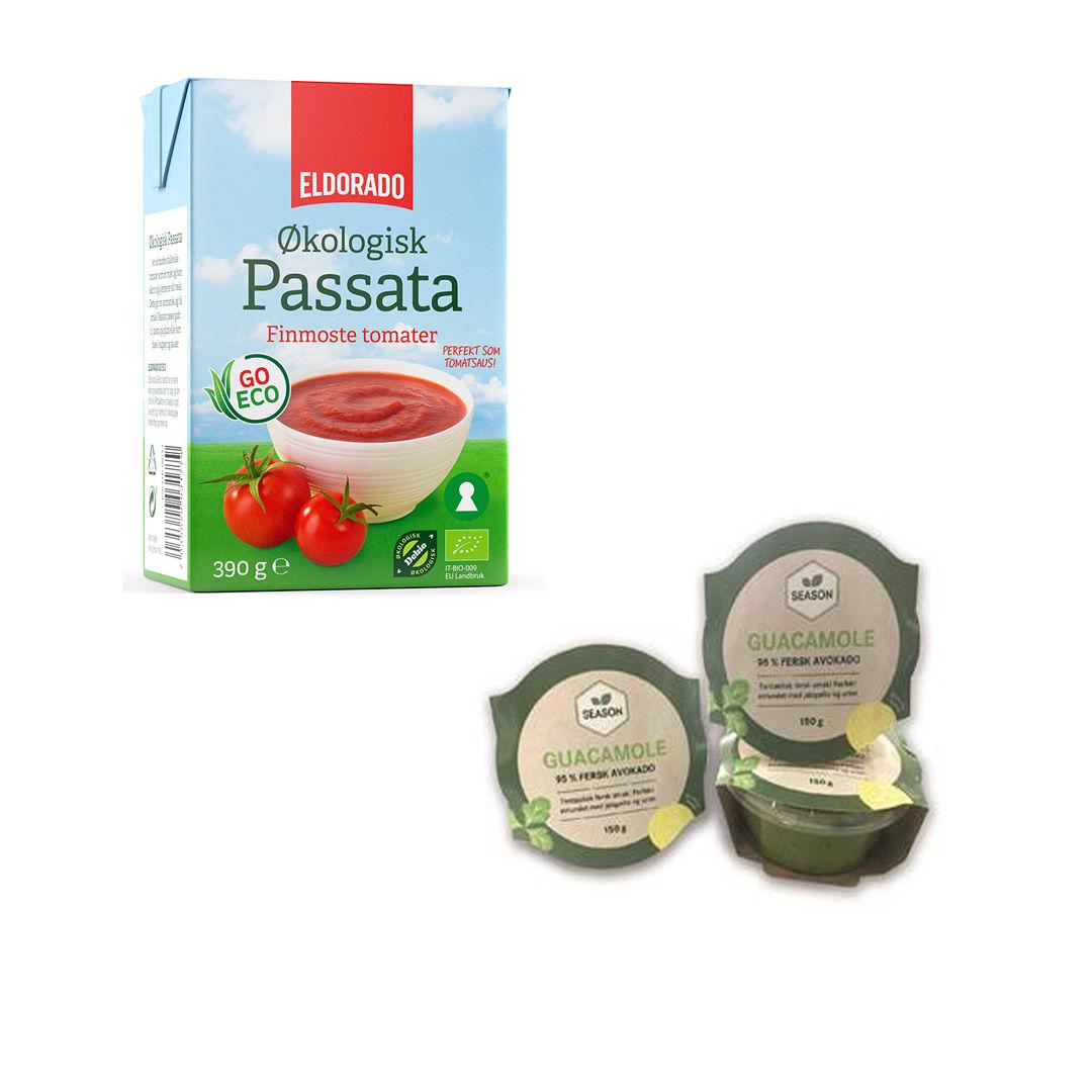 Økologisk Passata og fersk guacamole til fredagstacoen?