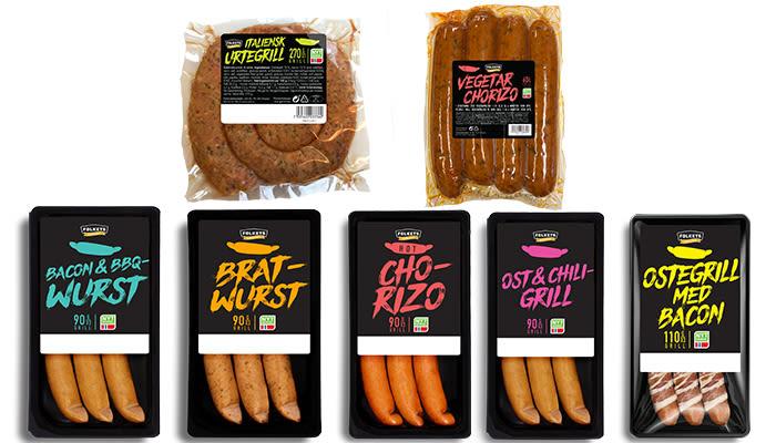 Bildetekst: I KIWIs egen pølseserie finner du mange spennende nyheter, inkludert vegetarpølser.