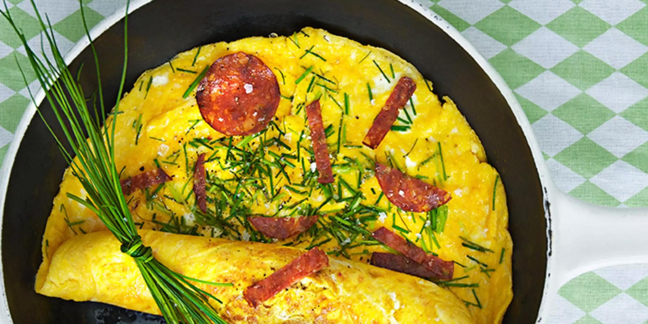 Kremet omelett
