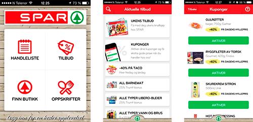 Kupongtilbud i SPAR-appen