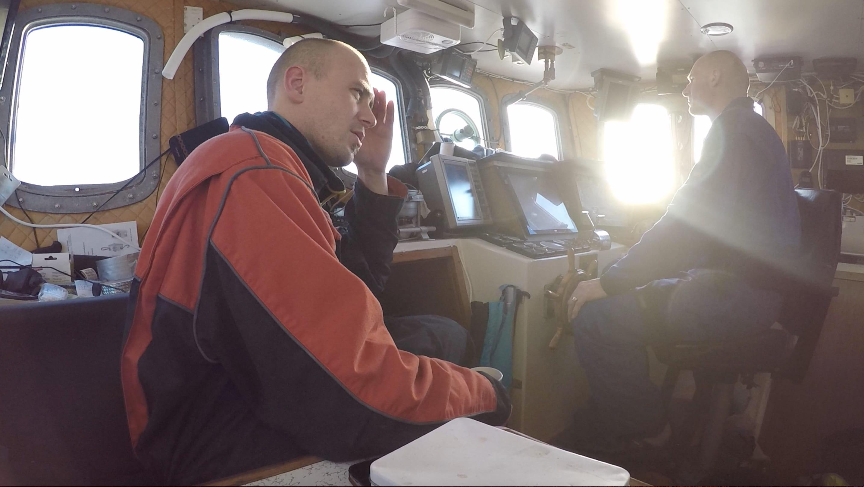 Bernt-Arne og skipper John-Einar.