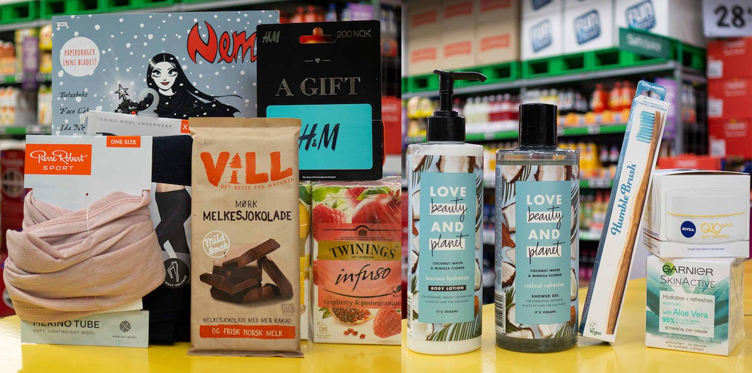 JULEGAVEN TIL DAMER: Kaffe, te, sjokolade, magasiner, såper, fuktighetskremer, ullprodukter og gavekort er nyttige gaver de fleste setter pris på.