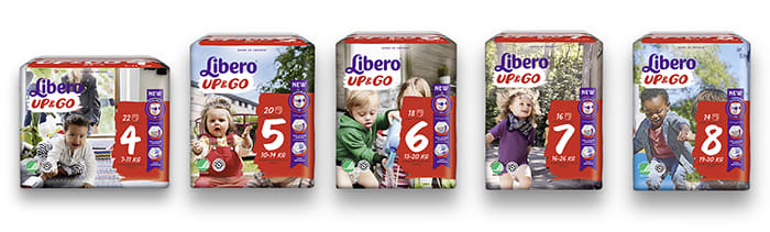 Libero Up & Go passer godt for aktive barn