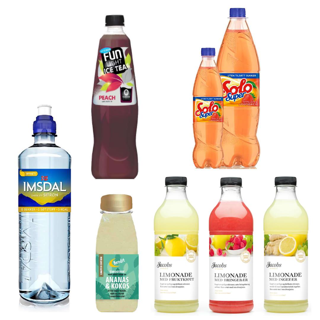 Imsdal med smak uten sukker, Fun light Ice tea, Solo Super med ny smak og limonade fra Jacobs er blant nyhetene på drikkefronten.