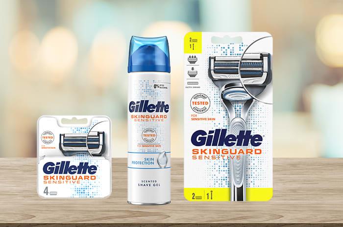 Nyheten Gillette Skinguard Sensitive er utviklet spesielt for nordiske menn.