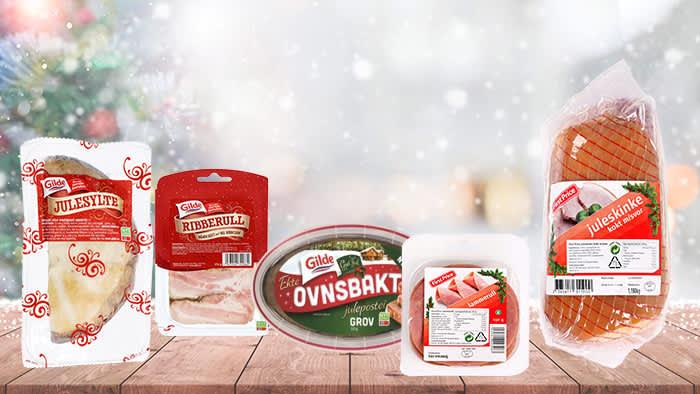 Julesylte, ribberull, julepostei, lammerull, juleskinke og roastbiff er populære pålegg på julebordet.