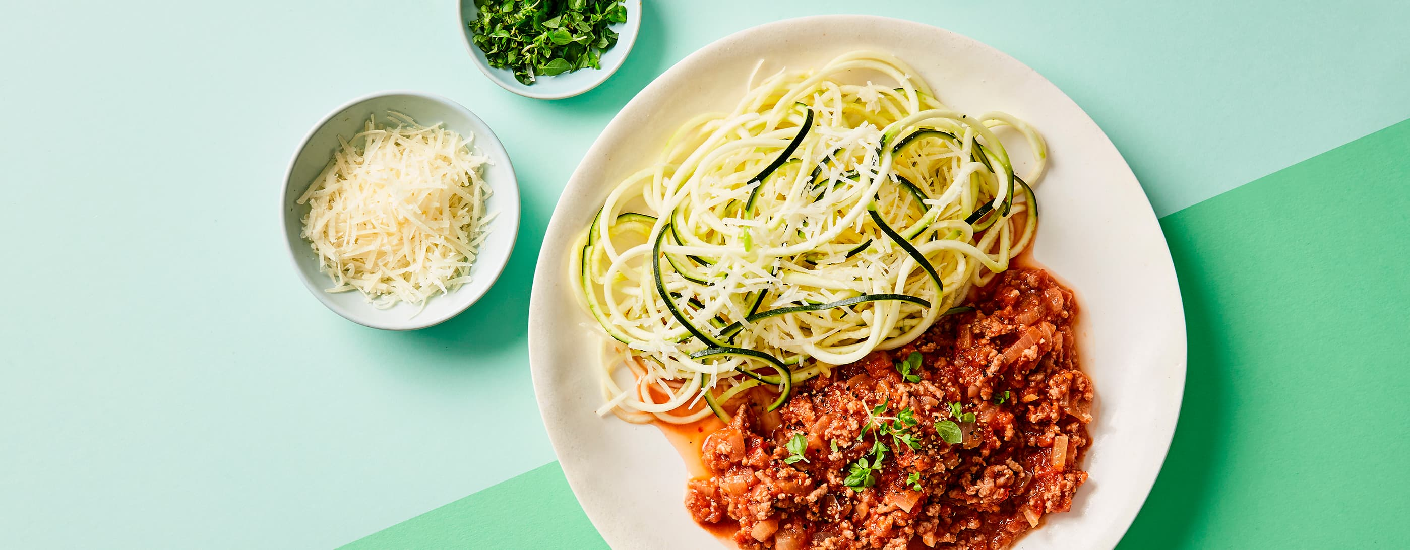 Middag for én: Squashpasta med bolognese