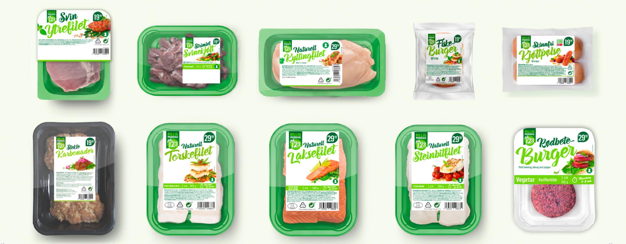 Serien med «Middag for én»-produkter er perfekt når du skal lage middag til deg selv, eller flere med ulike preferanser.