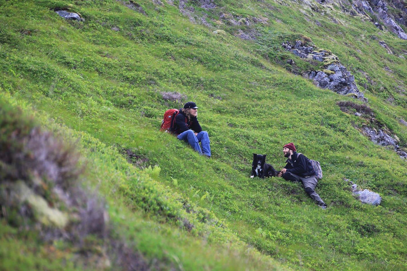 Siste bilde med kameraet før det seilte nedover fjellsiden.