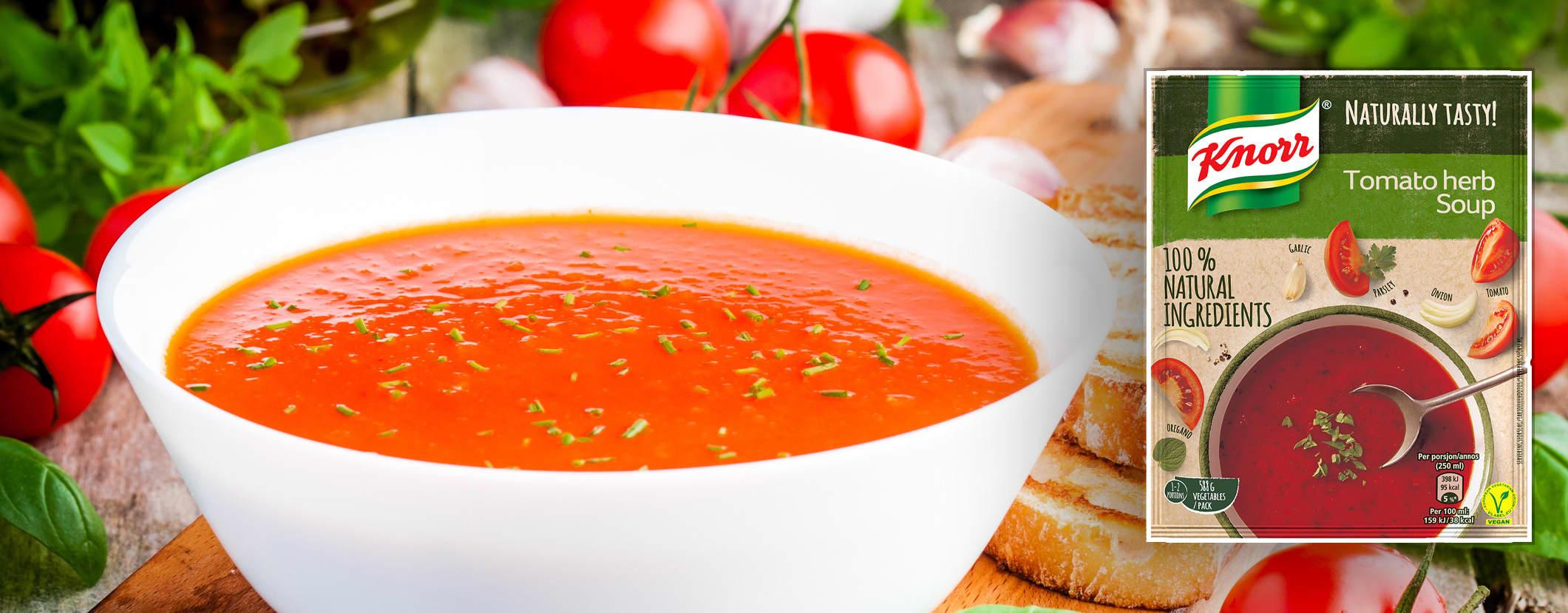 """Knorrs """"100 % naturlig suppe"""" inneholder godt med næringsstoffer og ingen tilsetningsstoffer."""