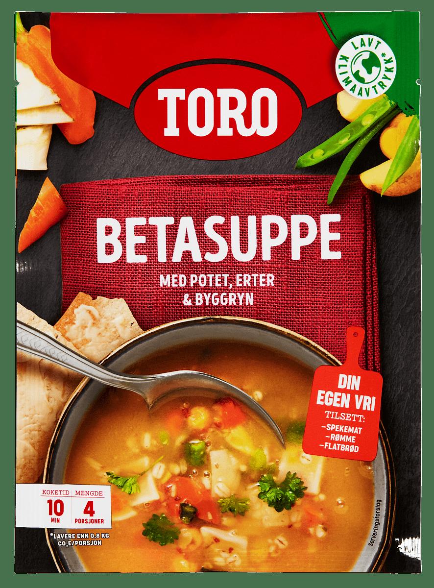 TORO Betasuppe slik den ser ut i dag.