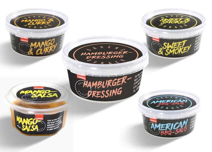 Hos KIWI finner du også en rekke sauser og dressinger som passer helt perfekt til burgere.
